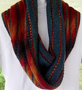 Another fun and easy colour pooling cowl where the yarn is the showstopper.