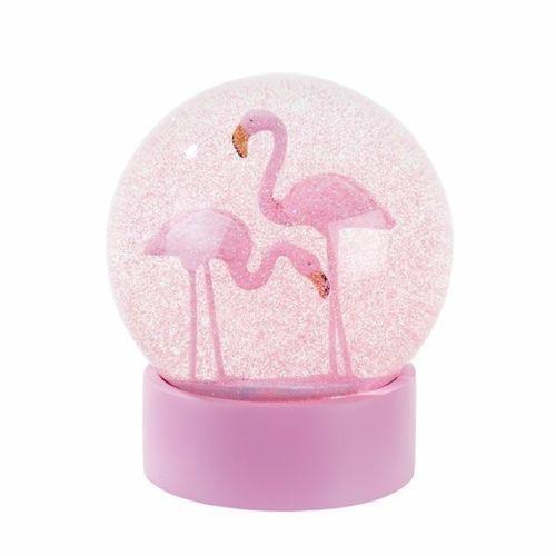 Gran-Brillo-Rosa-hablando-TABLAS-13cm-snowglobe-Flamingo-Ave-cupula-Globo-Regalo