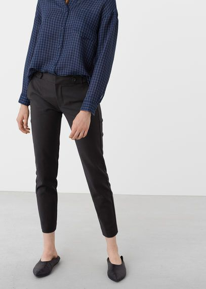 Mango Outlet Pocket cotton trousers