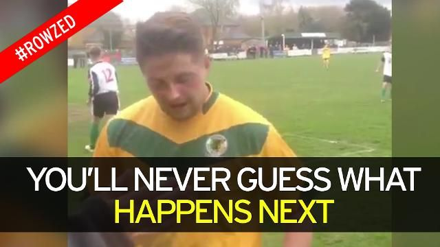Horsham FC player misses narrowly - You'll never guess what happened next!
