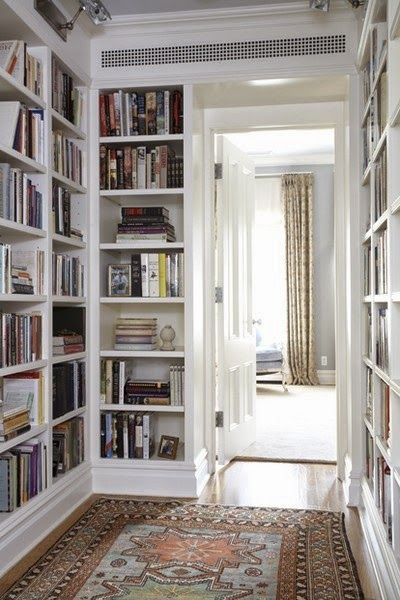 decorology: Super dreamy, never-want-to-leave home libraries.