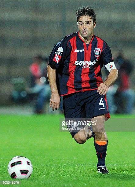 Antonio Galardo of Crotone in action during the Serie B match between Ascoli Calcio and FC Crotone at Stadio Cino e Lillo Del Duca on October 13 2010...