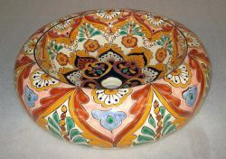 Talavera Rounded Vessel Sink - Mexican Connexion for Sinks. [ MexicanConnexionForTile.com ] #shop #Talavera #handmade