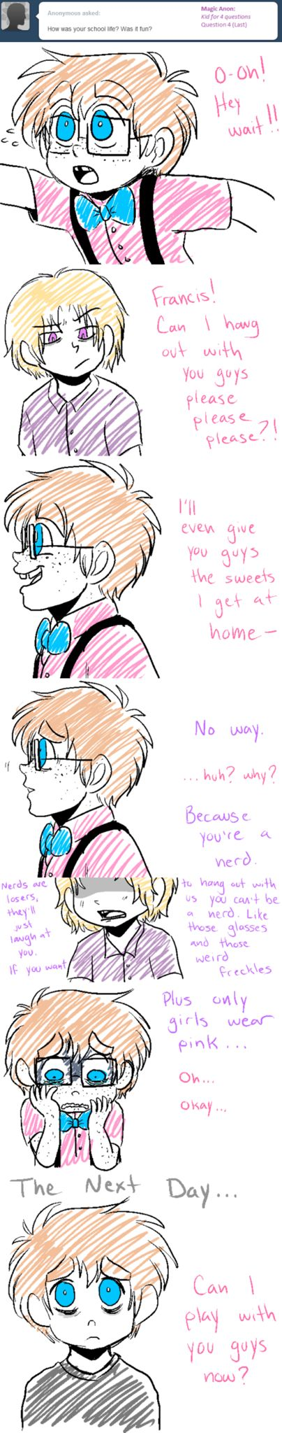 Shhh.. Did you hear that? That was the sound of my heart breaking for 2p!England... The hetalia fandom either makes me either extremily sad or happy-- there is no inbetween!! #hetalia {http://ask-2p-england.tumblr.com}