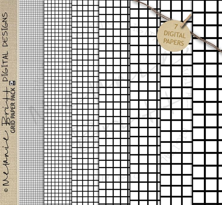 digital graph paper pack black and white commercial use