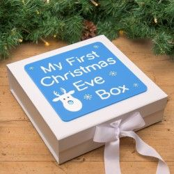 My first Christmas Eve box, this is super adorable! Create something similar and get one of our popular plain wooden boxes. Decorate it with paint and perhaps you could use our wooden letters. Click www.craftmill.co.uk for more information.