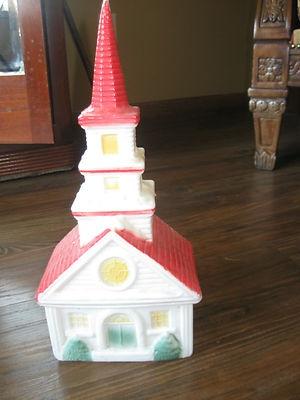 Vintage Christmas Blow Mold ~ Cute Little Church