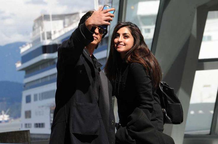 Shah Rukh Khan Sunglasses Hoody Coat Selfie Female Fan Vancouver © Atlantic Images