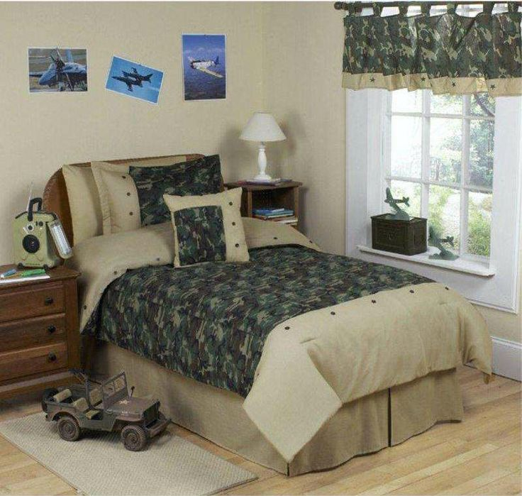 Army Green Camo Childrens Bedding   4 Pc Twin Set The Green Camo Twin  Bedding Collection By Sweet Jojo Designs Is Perfect For The Youngster With  A Passion ...