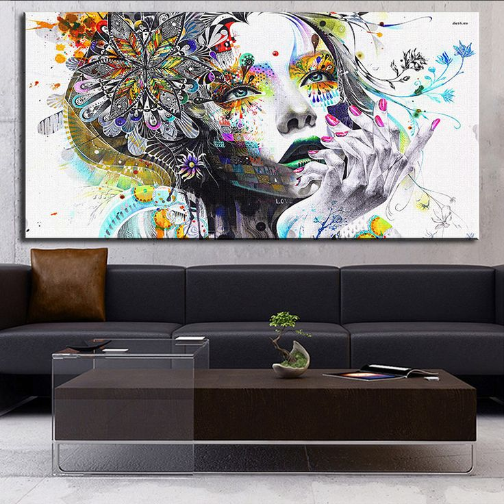 DP ARTISAN Modern wall art girl with flowers  oil painting Prints Painting on canvas No frame  Pictures Decor For Living Room
