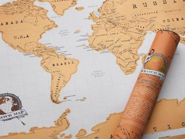 Scratch Map discovered by The Grommet lets you show off where you've visited. Just scratch off where you've been to reveal the colorful region underneath.
