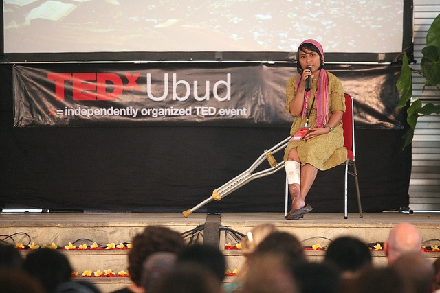 Lian Gogali at TEDxUbud, Bali speaking about conflict and women in Sulawesi Tengah, via Flickr.