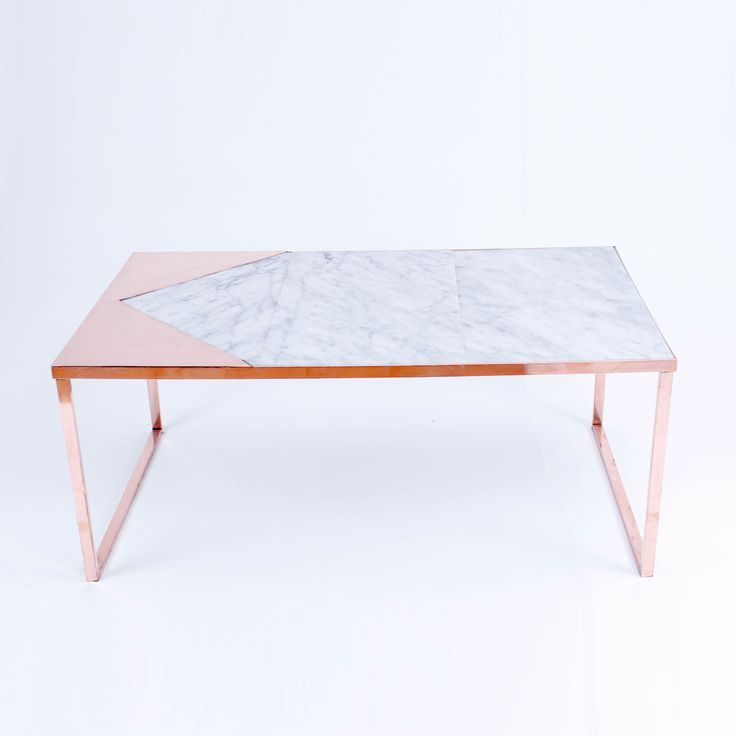 Marble Coffee Table With Copper Legs: Copper And Marble Coffee Table