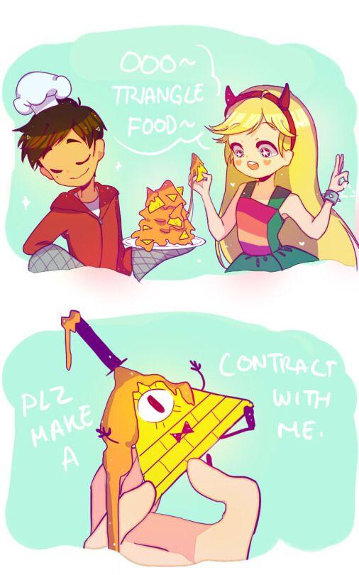 Talking Triangle Food  Star Vs Las Fuerzas Del Mal