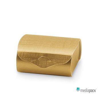 Caixa dourada com fecho para diversas utilizações.