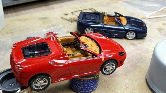 Last hand on both the Ferrari spiders.