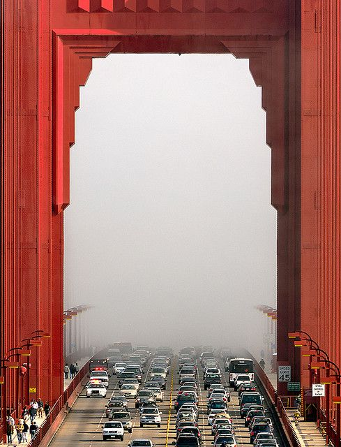 Golden Gate Bridge - San Francisco FogSan Francisco California, Bridges San, Golden Gate Bridge, Golden Gates Bridges, Sanfrancisco, Will, The Bridges, Places, Art Deco