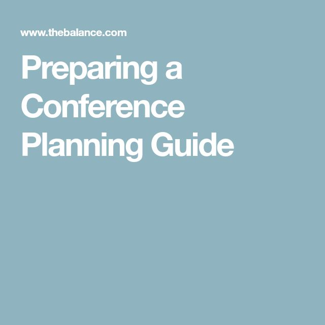 Preparing a Conference Planning Guide