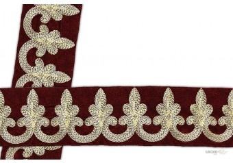 white embroidered trim . This awesome design is of Embroidery Trims . Its product code is: 001019 , Its size is: 55 mm. Material used is 100% Polyester . This Embroidery Trims comes with Embroidery , Sequence decoration. As seen design pattern is Flower . Locally this lace is also known as Saree Border . This white embroidered trim item have 1 colors available in this design. This lace can also be used in Saree Border etc.
