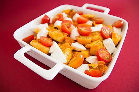 Salada de Tortellini com Queijo Mozarela   SaborIntenso.com
