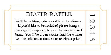 Diaper Raffle insert for the invitations