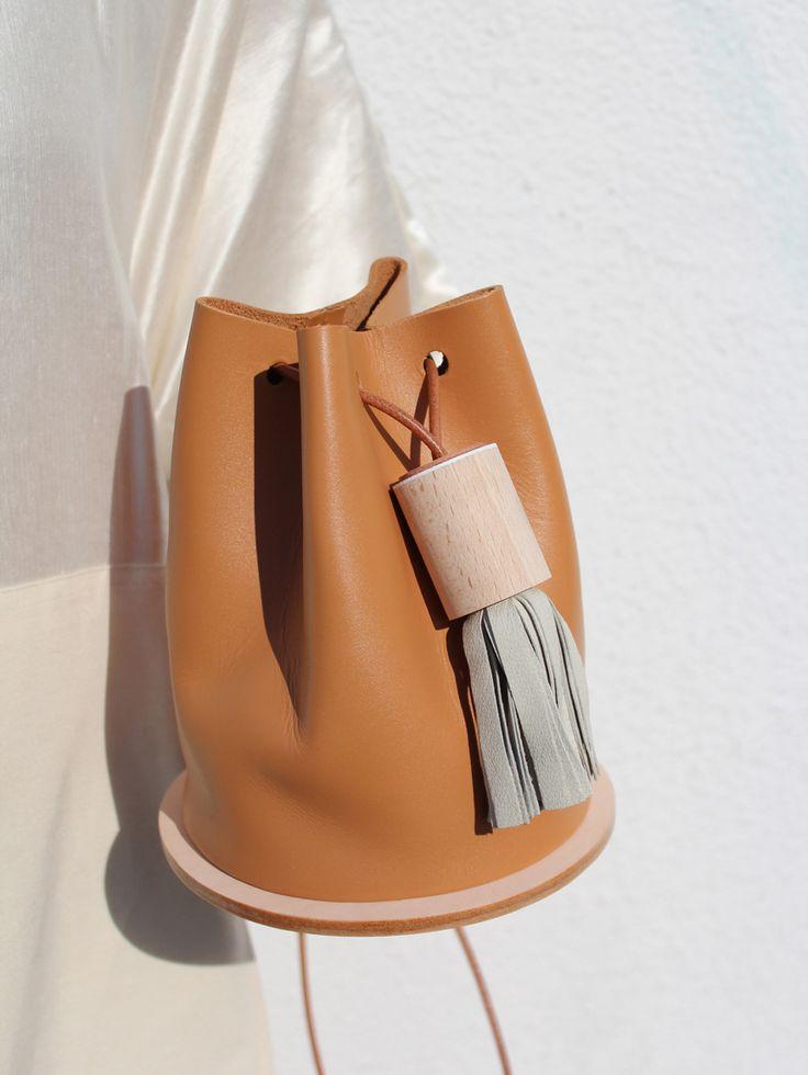 caramel leather bag