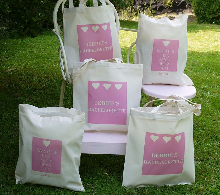 personalised 'hen party' bags by andrea fay's | notonthehighstreet.com