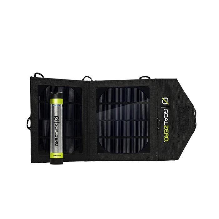 Goal Zero Switch 8 & Nomad 3.5 Kit: πακέτο ηλιακής φόρτισης με μπαταρία και αναδιπλούμενο ηλιακό πίνακα.