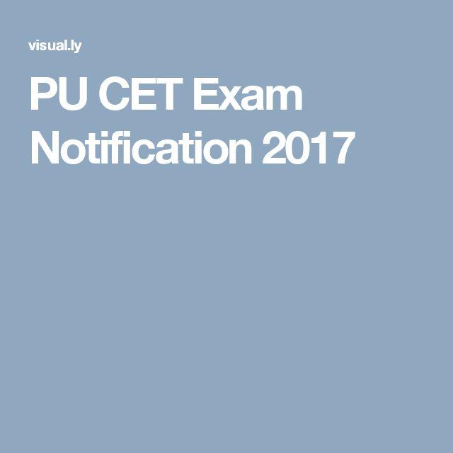 PU CET Exam Notification 2017
