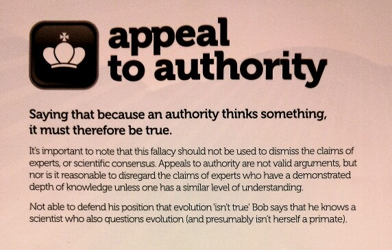 fallacies appeal to authority An argument from authority, also called an appeal to authority, or the argumentum ad verecundiam, is a form of defeasible argument in which a claimed authority's.