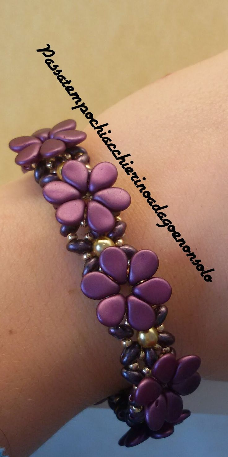 Flower Bracelet (English subs) ~ Seed Bead Tutorials