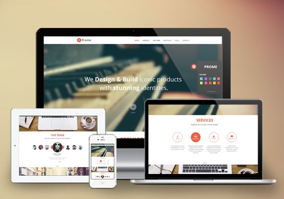 Prome a Cool landing page portfolio profile