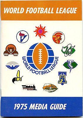 1975 World Football League Press Media Guide