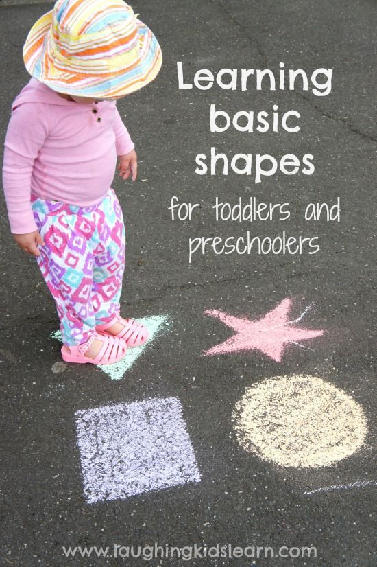 Learning basic shapes for toddlers and preschoolers - and colors, too!  #Toddlers #LearningKids