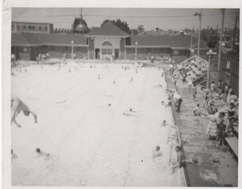 Footscray baths 1954