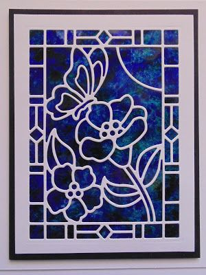 6/4/17.   Inky Finger Zone: Simple Stained Glass Window Ideas