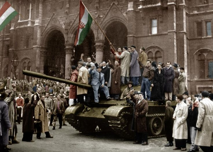 The Hungarian Revolution lasted less than three weeks, from Oct. 23 until Nov. 10, 1956 sent shock waves through eastern and central Europe that reverberated for decades. Some considered it as the first rip in the Cols War's Iron Curtain.Roughly 3000 Hungarian civilians were killed during those three weeks. The Hungarian People's Republic was replaced in 1989 by the Hungarian Republic.