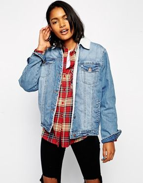 This lined denim jacket is perfect transitional outer layer if you're not quite ready to pull out your winter coat just yet. http://asos.to/1nQoYLS