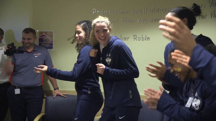 We still can't stop smiling about our visit from UConn Women's Basketball last Friday!! A huge thank you to the team for taking time out of their busy schedules to visit our patients and families in the Center for Cancer and Blood Disorders. It was an incredible afternoon that turned into a full on dance party...and we wouldn't have it any other way!! #UCONNWomensBasketball