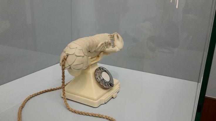 Dit is kunst uit het Surrealisme. Het surrealisme staat bekend om de bijzondere en rare combinaties van voorwerpen. Deze keer is dat een kreeft met een telefoon. De belangrijkste man achter het Surrealisme is de Franse schrijver en dichter André Breton.
