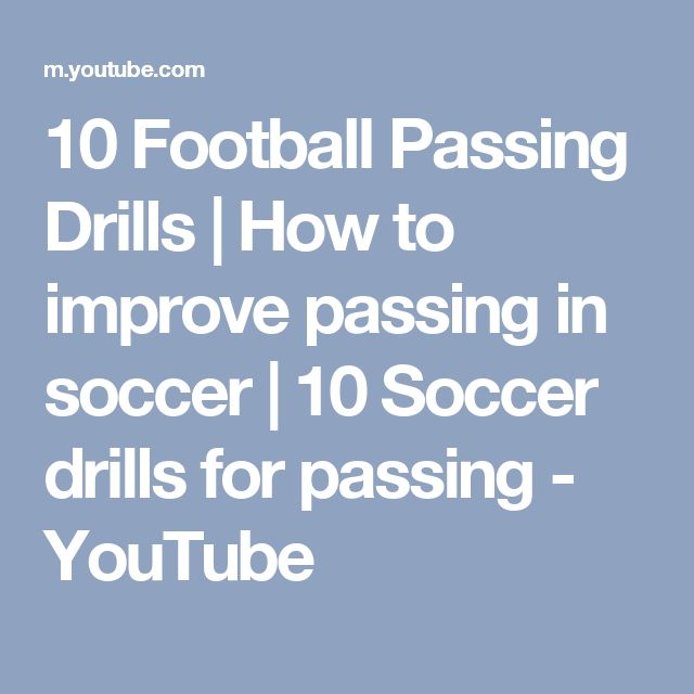10 Football Passing Drills | How to improve passing in soccer | 10 Soccer drills for passing - YouTube