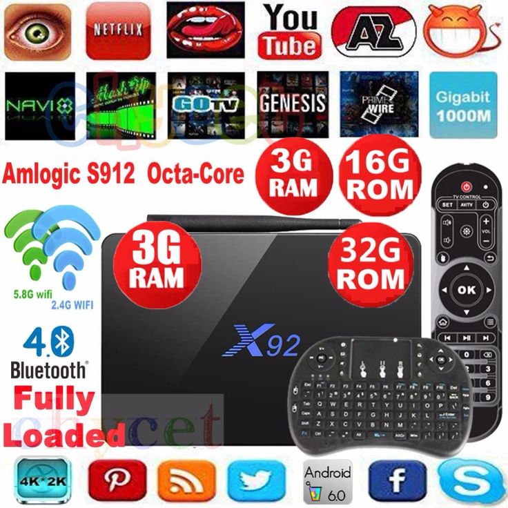 מקורי X92 2 גרם 16 גרם 3 גרם/32 גרם S912 אנדרואיד 6.0 הטלוויזיה Box Amlogic אוקטה Cor 2.4 גרם 5 גרם dual Wifi 4 K 3D H.265 חכם media player Set Top Box