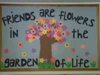 Spring Friendship Bulletin Board Idea