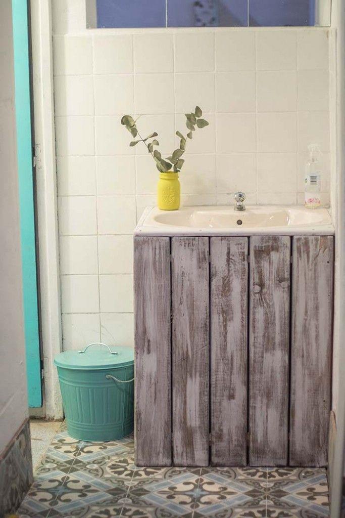 lavabo mueble palets | Ideas de muebles | Pinterest | Palets, Lavabo ...