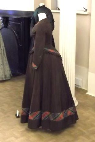 Dress, late 1860s,  the full view