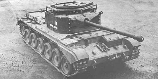 British A30 Avenger cruiser tank. This was a Cromwell tank turned into a tank destroyer with the addition of a 17 Pdr gun. It was turned down in favor of USA supplied M10 tank destroyers in order to prevent disruption of normal Cromwell production.