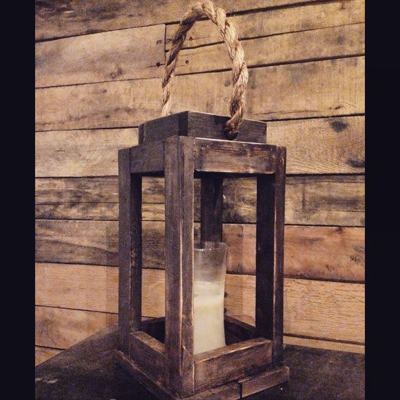 Rustic Wood Lantern Candle Holder. Bedroom Decor. Vintage. Wedding gift. Mother's Day Birthday. Wedding decor. Rustic wedding. Centerpiece.