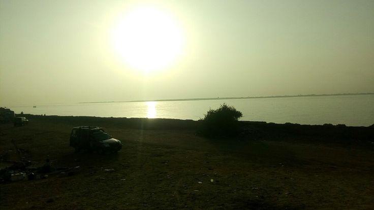 Dawn at sea view Karachi Pakistan