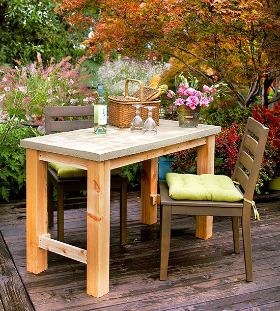 The key to this trendy table is its powerhouse materials.