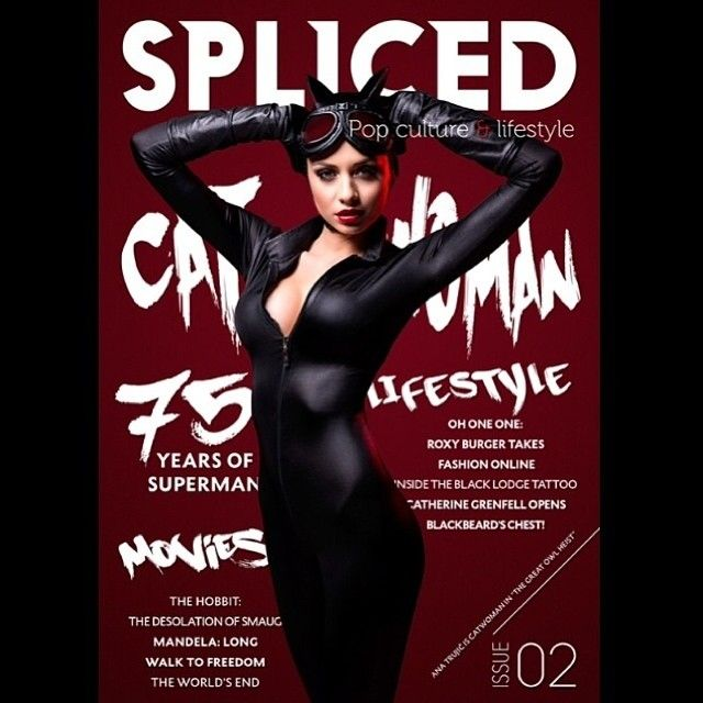 The Spliced cover with our Wae West wetlook catsuit